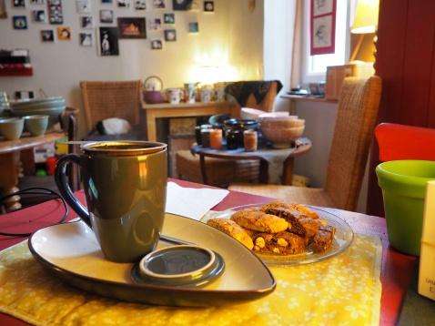 Thé dans le petit salon